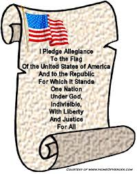 Pledge of Allegiance on Banner