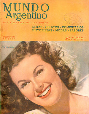 English: Barbara Hale on the Argentinean magaz...