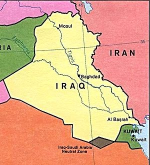 The former Neutral Zone between Iraq and Saudi...