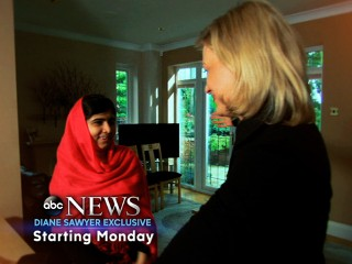 Malala with Diane Sawyer