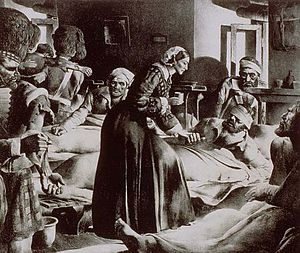 Florence Nightingale, also known as the Lady w...