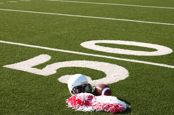 Pompoms and Football Blow-Up