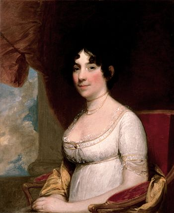 English: Dolley Madison, c. 1804, by Gilbert S...
