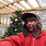 Denise with Christmas Tree