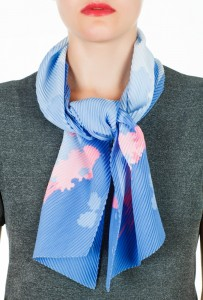 Career woman's neck scarf - blue
