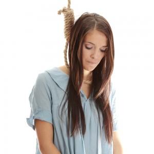 Woman Hanging